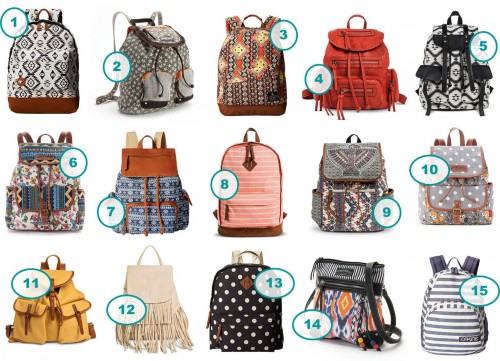 7.10 Round Up of Stylish Teen Girl Backpacks COLLAGE