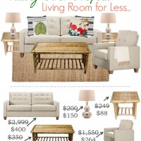 Pottery Barn Inspired: Living Room