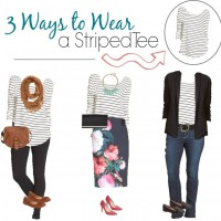 The Striped Tee: Style It 3 Ways