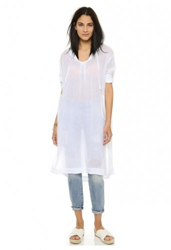 """If this hooded caftan by Skin doesn't scream """"first summer as a mom,"""" I don't know what does. $158, ShopBop."""