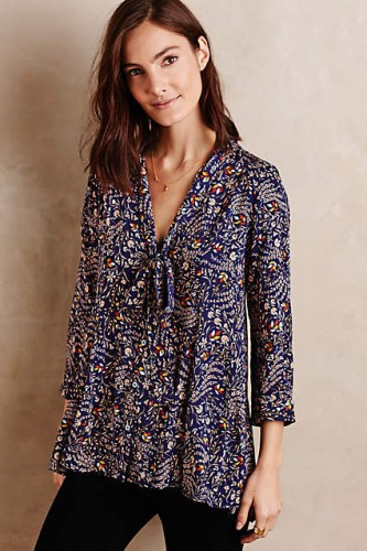 Tie-Neck Swing Blouse #AnthroFave