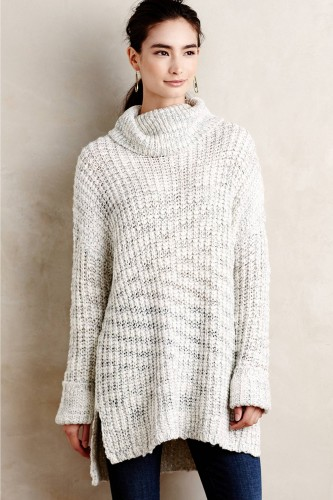 Marled Cowl Pullover - coziest sweater for fal! #Anthrofave