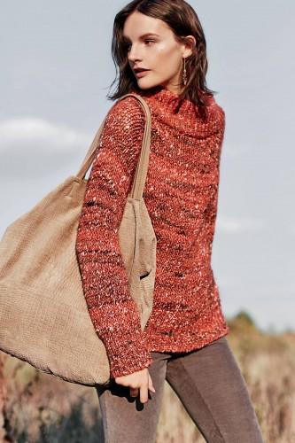 Marled Mock-Neck Sweater #Anthrofave