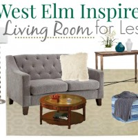 GET THIS: Teal and Grey West Elm Living Room for Less