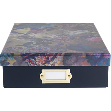 CR Gold Floral Document Box