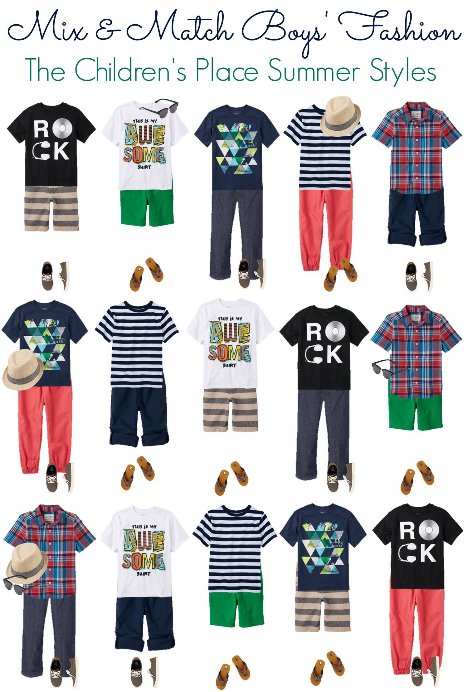 Mix and Match - BOYS Summer Styles from TCP