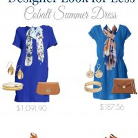 Designer Look for Less: Cobalt Summer Dress for a fraction of the price!
