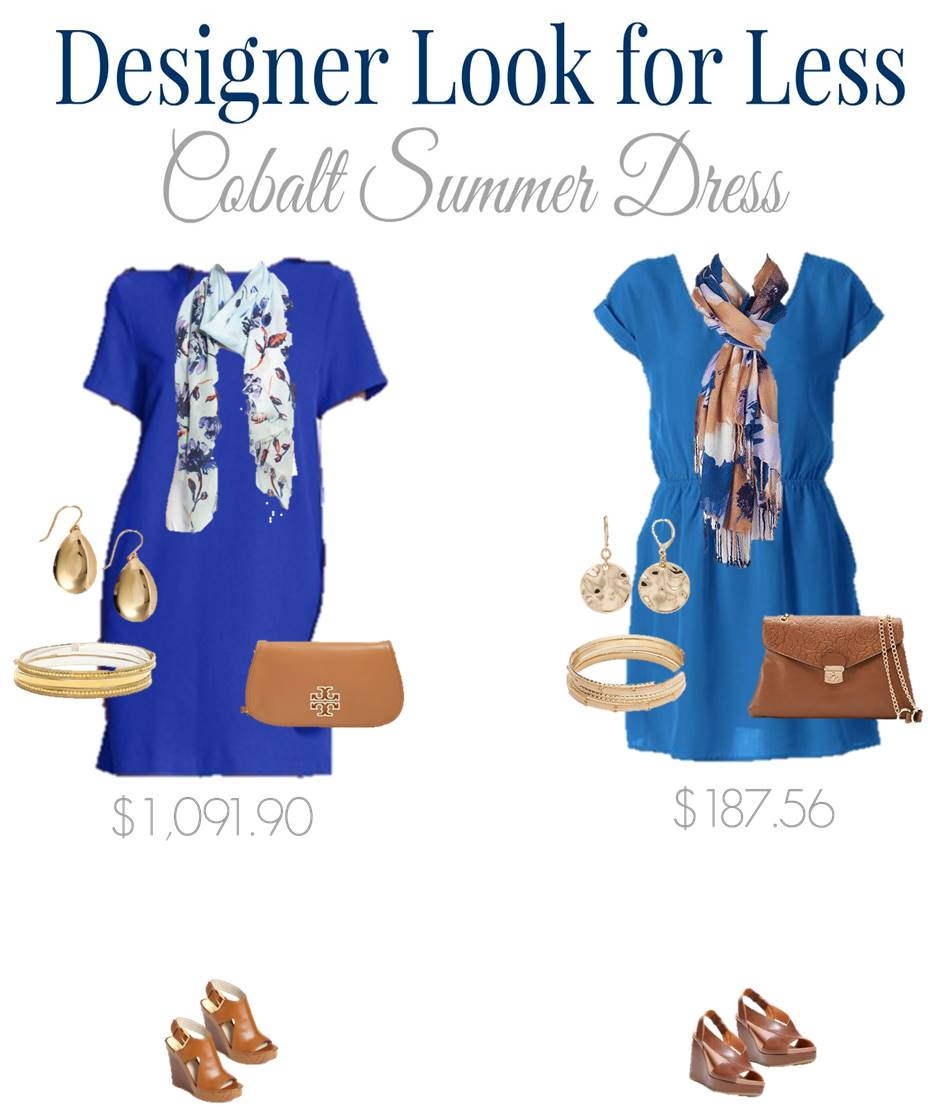 Designer Look for Less - Cobalt Summer Dress