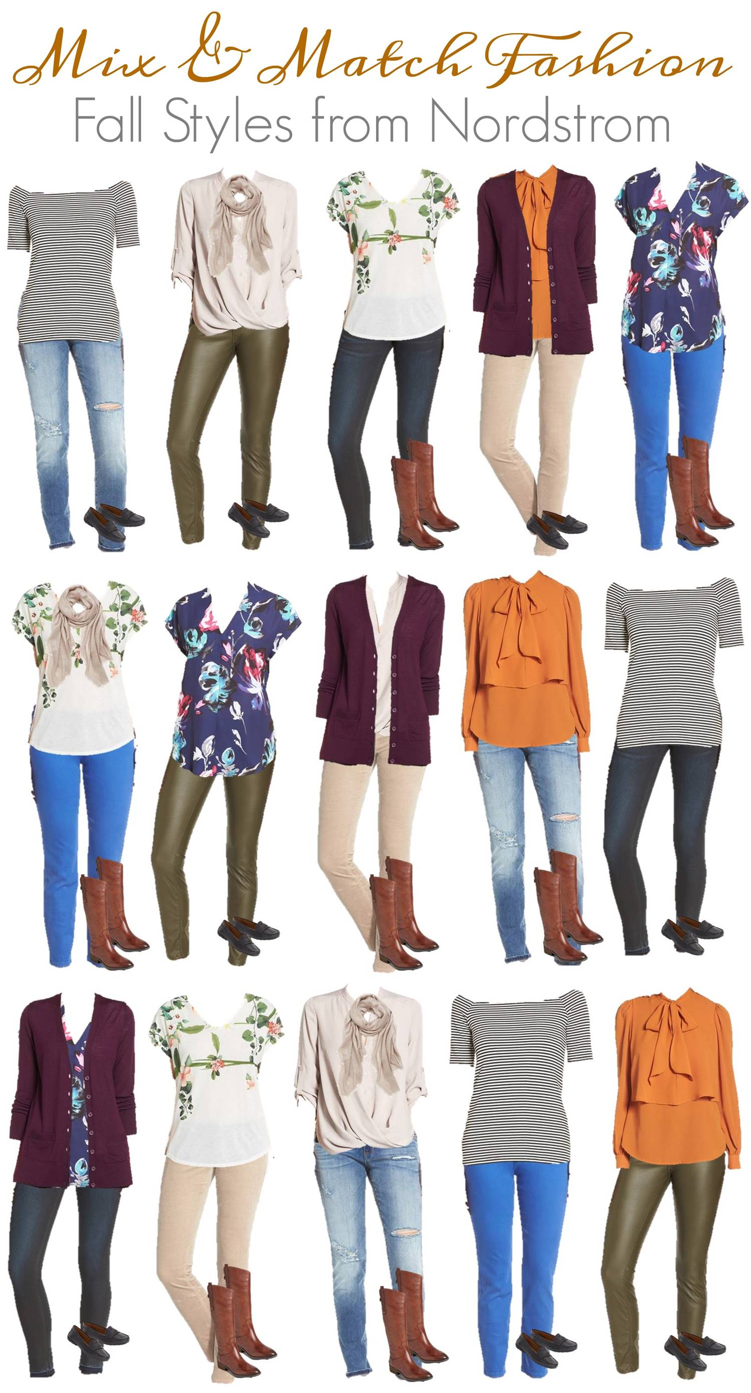 Mix & Match Fall Fashion - Nordstrom High End Styles VERTICAL